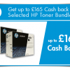 October Savings: Get up to £165 Cash back on HP toner this October! Thumbnail