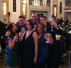 Some of the TonerGiant team celebrate at the awards