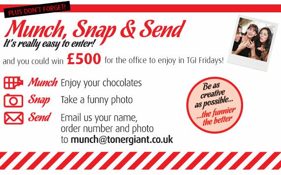 Munch, snap & send!