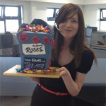 Fancy a taste of a Giant Cadbury's Roses cake??