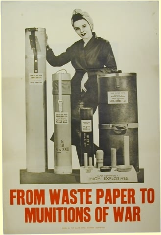 WW2 paper recycling ad