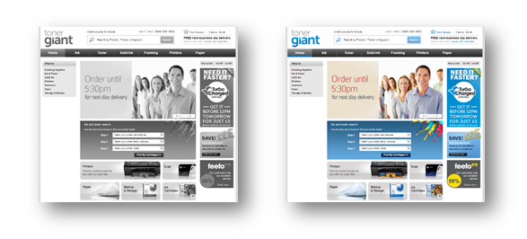 Screenshot of pages in black & white VS colour
