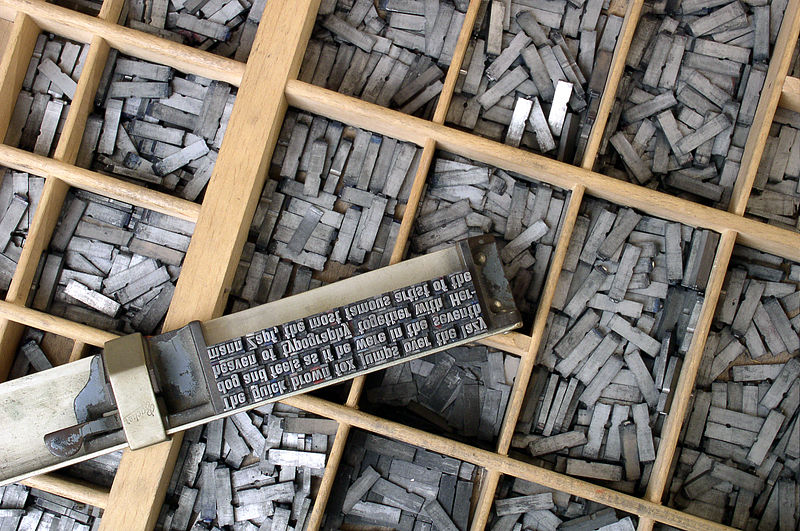 Gutenberg moveable type pieces