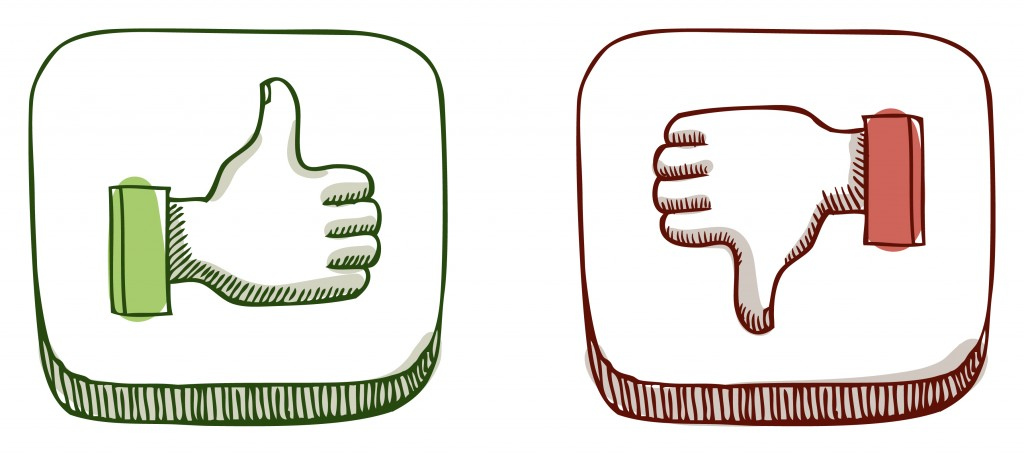 green thumbs up red thumbs down icon