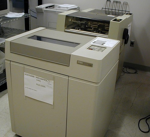 A large old printer