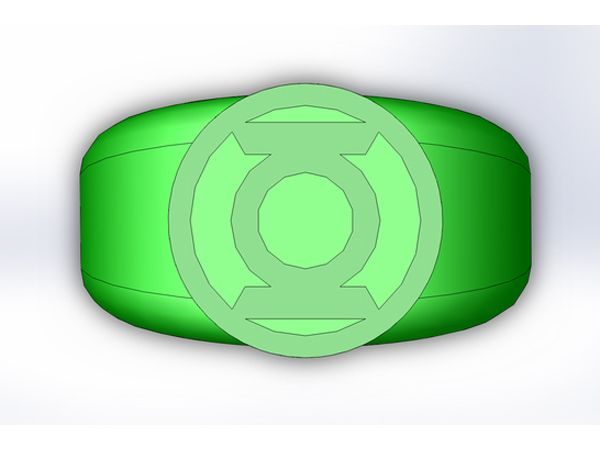 A green lantern ring