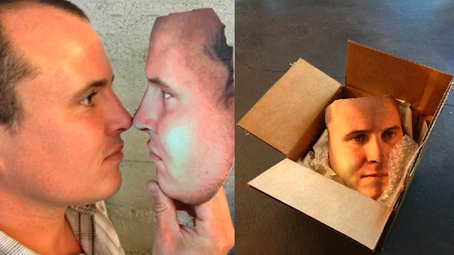 Man and his 3d printed face mask