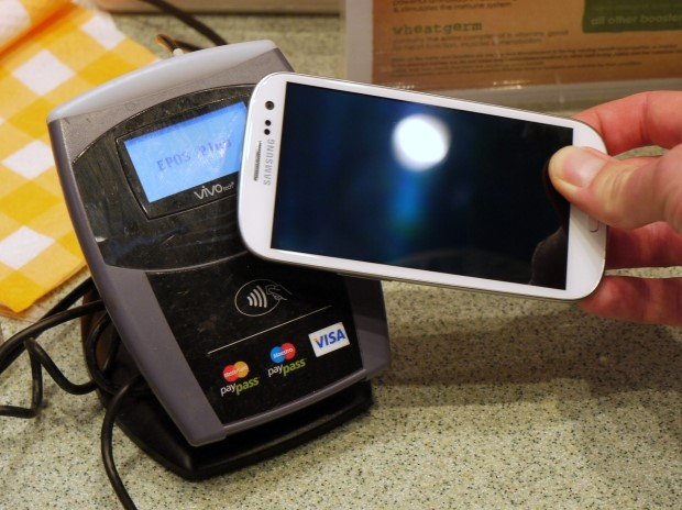 Smartphone and NFC contactless payment