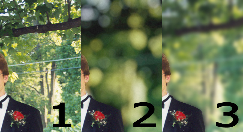 Pic showing depth of field comparison