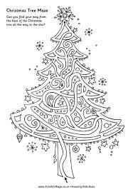 Printable Christmas Tree maze template
