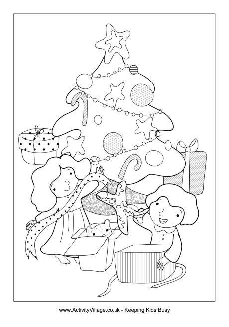 Printable Christmas Tree for colouring