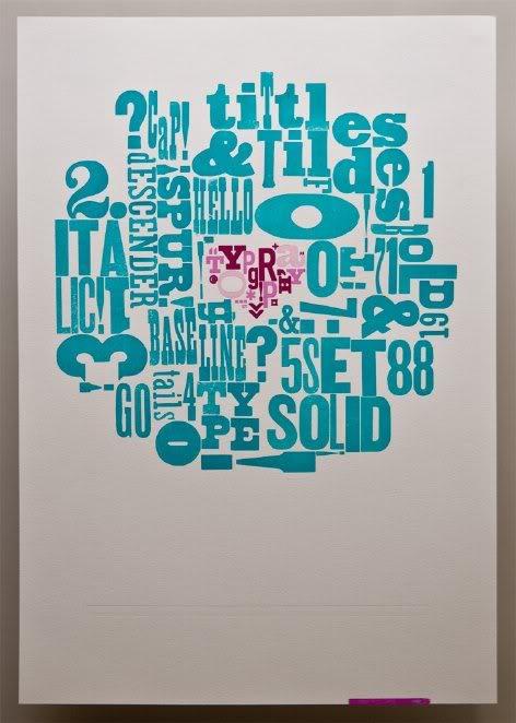 A letterpress canvas