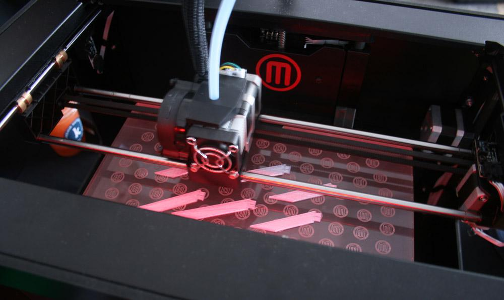 Inside the MakerBot printer