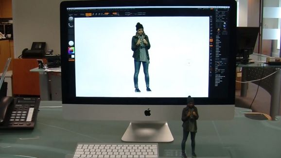 3D model next to its on screen design