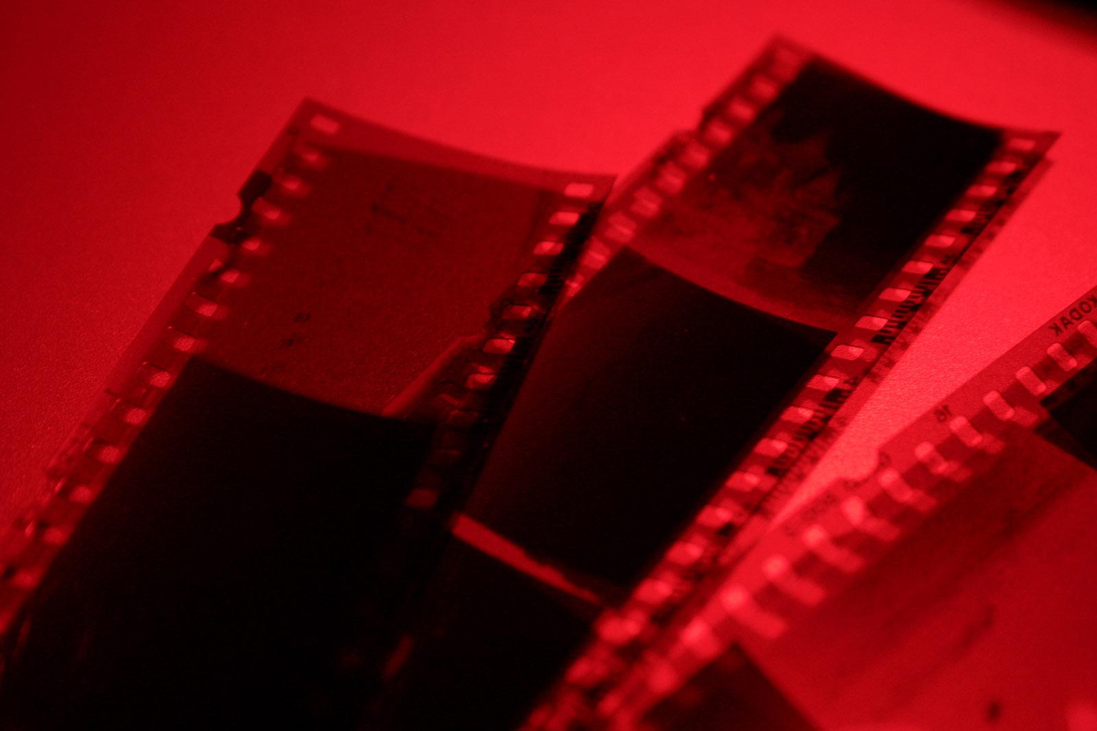 film in darkroom