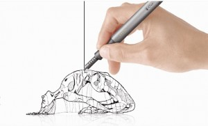 3d pen drawing a sculpture