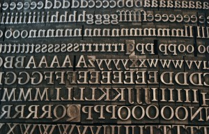 Plantin letterpress alphabet