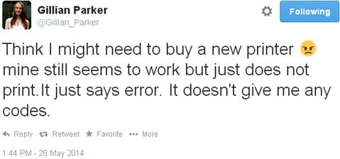 Tweet outlining problem