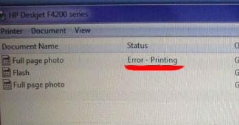 How to Fix Error Printing Message