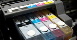inkjet cartridges in printer