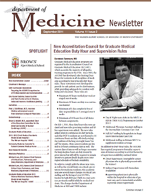 Brown University Med School newsletter