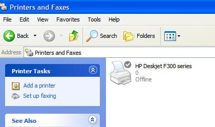 "screenshot of ""printer offline"" icon"