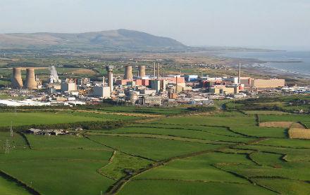 Aerial shot of Sellafield