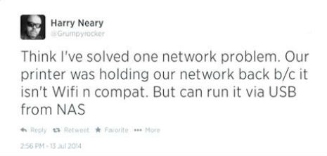 Tweet by Harry Neary