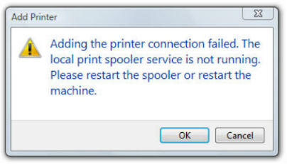 local print spool error message