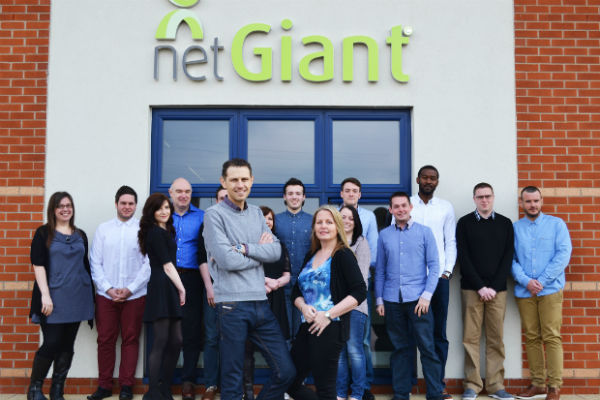 Gary and Joanne Flynn with the team at NetGiant Ltd