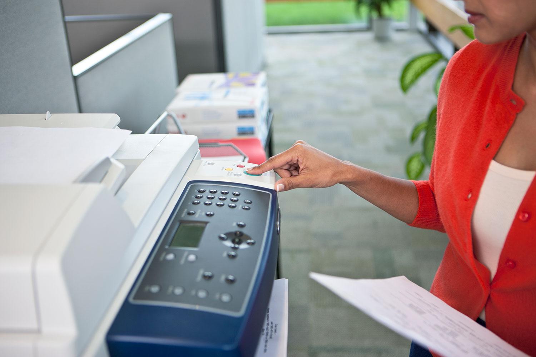 Printer button press