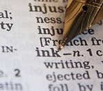 The word ink in a dictionary