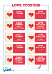 Valentines Love Coupons