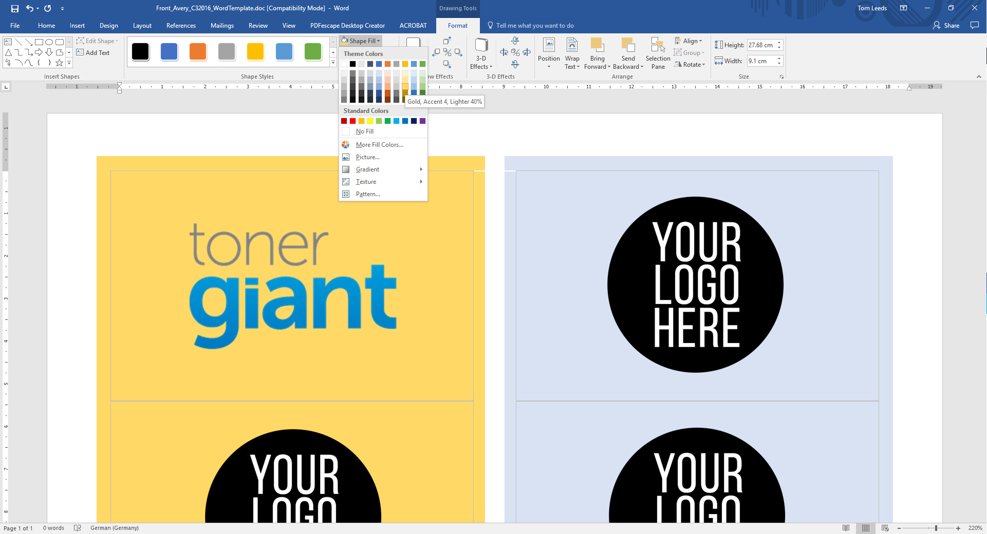 business card template downloadable resources toner giant