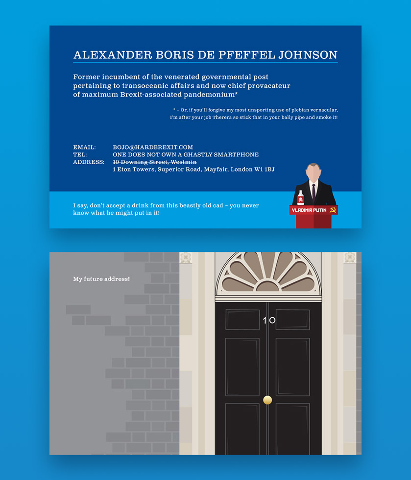 What would famous peoples business cards look like toner giant boris johnsons business card reheart Choice Image